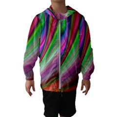 Illusion Background Blend Hooded Windbreaker (kids)