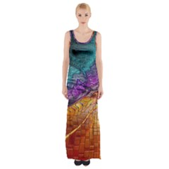 Graphics Imagination The Background Maxi Thigh Split Dress