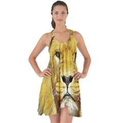 Lion Lioness Wildlife Hunter Show Some Back Chiffon Dress