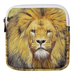 Lion Lioness Wildlife Hunter Mini Square Pouch