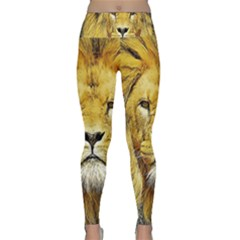 Lion Lioness Wildlife Hunter Lightweight Velour Classic Yoga Leggings