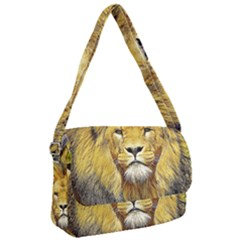 Lion Lioness Wildlife Hunter Courier Bag by Pakrebo