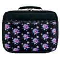 Flowers Pattern Background Lilac Lunch Bag View1