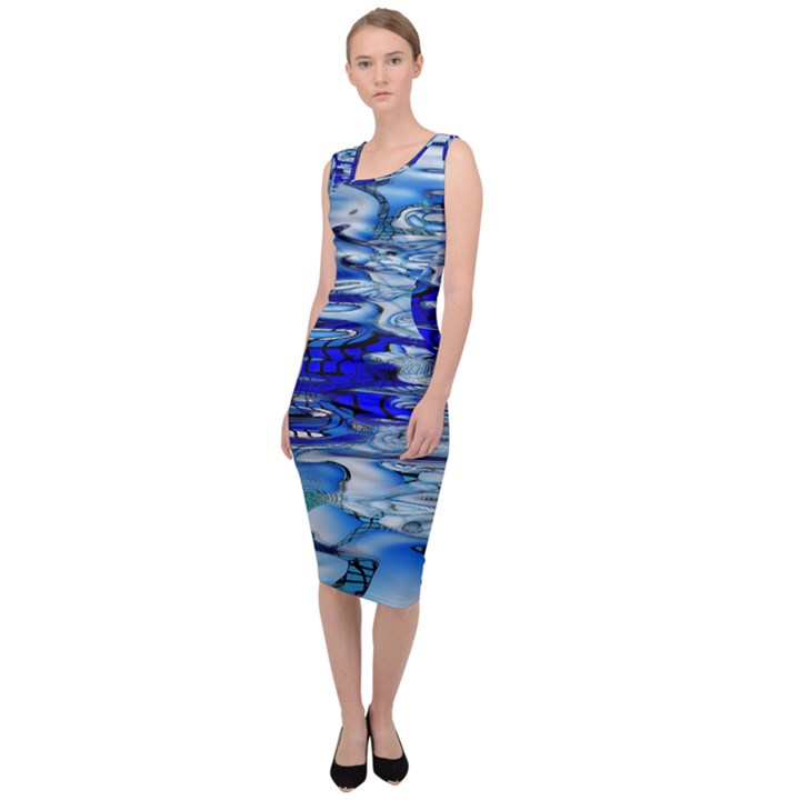 Graphics Wallpaper Desktop Assembly Sleeveless Pencil Dress
