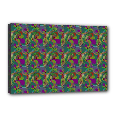 Pattern Abstract Paisley Swirls Canvas 18  X 12  (stretched) by Pakrebo