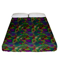 Pattern Abstract Paisley Swirls Fitted Sheet (queen Size)