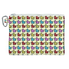 Ducklings Background Ducks Cute Canvas Cosmetic Bag (xl)