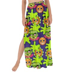 Smiley Background Smiley Grunge Maxi Chiffon Tie Up Sarong