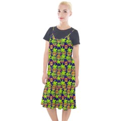 Smiley Background Smiley Grunge Camis Fishtail Dress