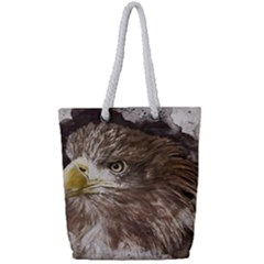 Sea Eagle Raptor Nature Predator Full Print Rope Handle Tote (small)