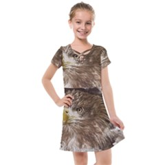 Sea Eagle Raptor Nature Predator Kids  Cross Web Dress