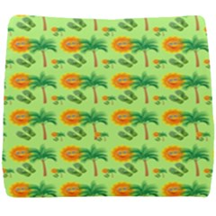 Holiday Tropical Smiley Face Palm Seat Cushion