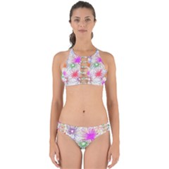 Star Dab Farbkleckse Leaf Flower Perfectly Cut Out Bikini Set