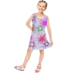Star Dab Farbkleckse Leaf Flower Kids  Tunic Dress
