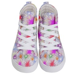 Star Dab Farbkleckse Leaf Flower Kids  Hi Top Skate Sneakers