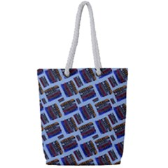 Abstract Pattern Seamless Artwork Full Print Rope Handle Tote (small)