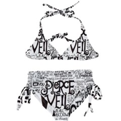 Pierce The Veil Music Band Group Fabric Art Cloth Poster Kids  Classic Bikini Set