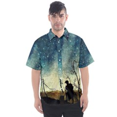Dwell A Hermit Anywhere Men s Short Sleeve Shirt by WensdaiAddamns