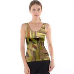 Earth Tones Geometric Shapes Unique Tank Top