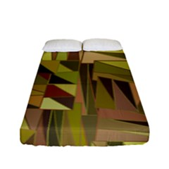 Earth Tones Geometric Shapes Unique Fitted Sheet (full/ Double Size)