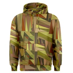 Earth Tones Geometric Shapes Unique Men s Pullover Hoodie