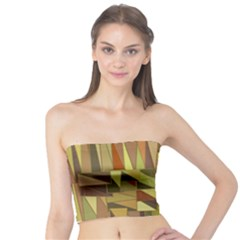 Earth Tones Geometric Shapes Unique Tube Top