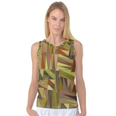 Earth Tones Geometric Shapes Unique Women s Basketball Tank Top