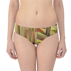 Earth Tones Geometric Shapes Unique Hipster Bikini Bottoms