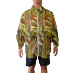 Earth Tones Geometric Shapes Unique Windbreaker (kids)