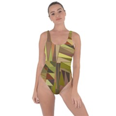 Earth Tones Geometric Shapes Unique Bring Sexy Back Swimsuit