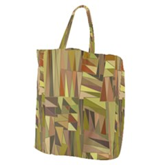 Earth Tones Geometric Shapes Unique Giant Grocery Tote