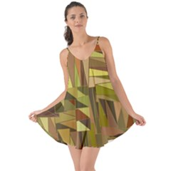 Earth Tones Geometric Shapes Unique Love The Sun Cover Up