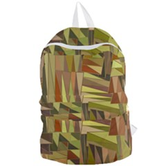 Earth Tones Geometric Shapes Unique Foldable Lightweight Backpack by Mariart