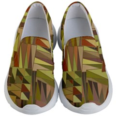 Earth Tones Geometric Shapes Unique Kids  Lightweight Slip Ons