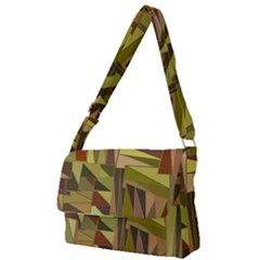 Earth Tones Geometric Shapes Unique Full Print Messenger Bag