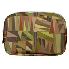 Earth Tones Geometric Shapes Unique Make Up Pouch (small)