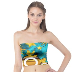 Gold Music Clef Star Dove Harmony Tube Top