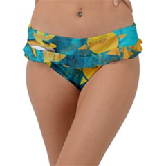 Gold Music Clef Star Dove Harmony Frill Bikini Bottom