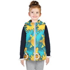 Gold Music Clef Star Dove Harmony Kids  Hooded Puffer Vest