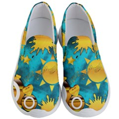 Gold Music Clef Star Dove Harmony Men s Lightweight Slip Ons