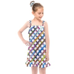 Rings Geometric Circles Random Kids  Overall Dress by AnjaniArt