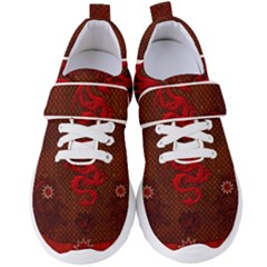 Awesome Chinese Dragon, Red Colors Women s Velcro Strap Shoes by FantasyWorld7