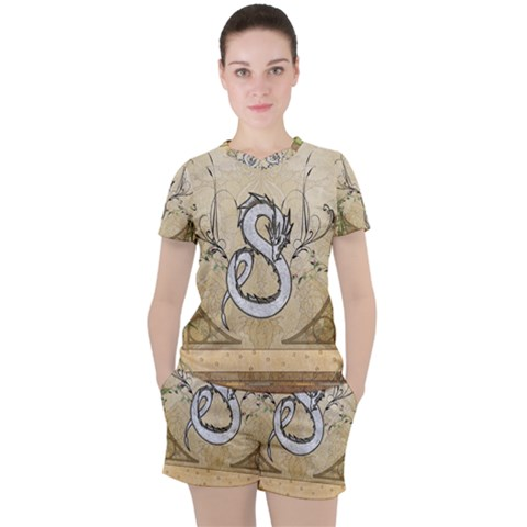 Wonderful Asian Dragon Women s Tee And Shorts Set by FantasyWorld7