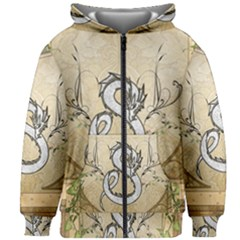 Wonderful Asian Dragon Kids  Zipper Hoodie Without Drawstring