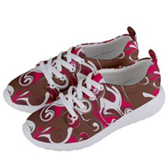 Fancy Magenta Marble Women s Lightweight Sports Shoes by tarastyle