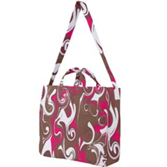 Fancy Magenta Marble Square Shoulder Tote Bag by tarastyle