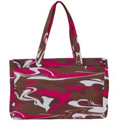 Fancy Magenta Marble Canvas Work Bag by tarastyle