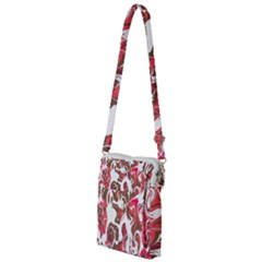Fancy Magenta Marble Multi Function Travel Bag by tarastyle