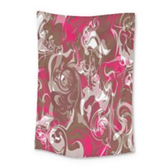 Fancy Magenta Marble Small Tapestry by tarastyle