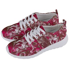 Fancy Magenta Marble Men s Lightweight Sports Shoes by tarastyle